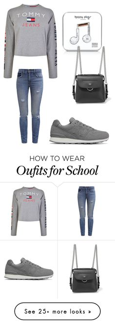 """""""I have to work today"""" by sarahfohlen on Polyvore featuring Tommy Hilfiger, New Balance, Levi's, Happy Plugs, Fendi, Winter and 2k17"""