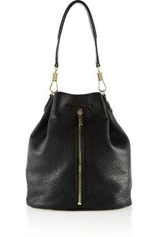 Elizabeth and James - Sling textured-leather backpack 26c2678360b01