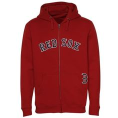 Boston Red Sox Majestic Team Name Big & Tall Full Zip Hoodie – Red