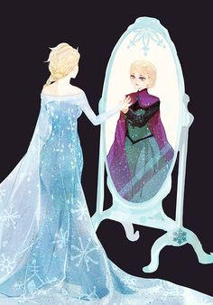 Reflection. Elsa. Makes me think of the mirror of Erised in Harry Potter.