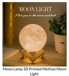 This moon lamp just gives us that warm and cozy vibes. Don't worry if there's no moonlight at night. Switch on this super realistic moonlight and feel the magic. Or you could dance in this moonlight 🌝🌙🌖  #Dancingmoonlight #glow #lamp #moonlight #iwtat #gifts #iwant