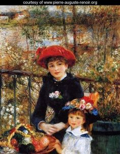 Pierre Auguste Renoir:  Two Sisters (On the Terrace) - 1881.  Oil on canvas - Art Institute of Chicago, Chicago, IL.
