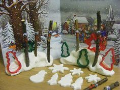 Adventures @ Play: Snow Dough and Stick Man Literacy Activities, Winter Activities, Christmas Activities, Christmas Crafts, Children Activities, Christmas Ideas, Book Projects, Projects To Try, Polo Norte