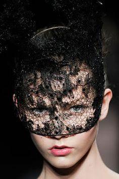 Valentino Fall 2009  Black Lace Mask