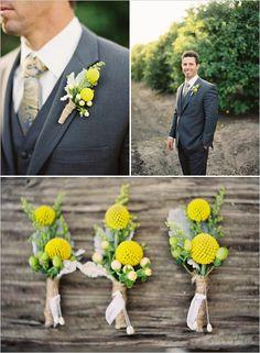 yellow! via the Wedding Chicks | florals by Yamaguchi's Flowers | photos by Kurt Boomer Photo