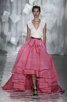 Jason Wu Spring 2012 #fashion #runway with a 3/4 sleeve blouse or long sleeved