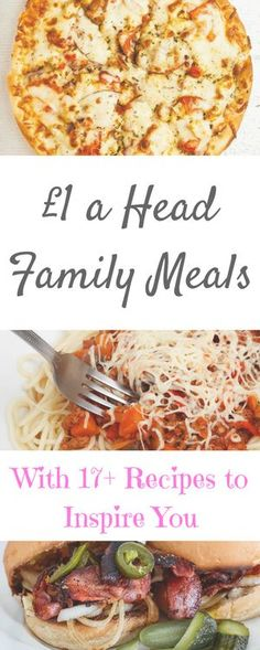 Family meals for under £1 a head. I've worked it all out for you - from the ingredients you'll need and how much they should cost you, by Laura at Savings 4 Savvy Mums.