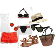 What I would wear on a tropical vacation.
