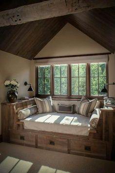 Rustic Window Seat More