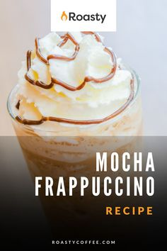 Did somebody say CHOCOLATE?! Give this copycat recipe a try if you're having a bad day because this will probably make it better. The caffeine kick of coffee is just an added bonus! Drizzle the top with chocolate sauce and indulge! Frappuccino Recipe, Starbucks Frappuccino, Latte Recipe, Easy Coffee, Coffee Ideas, Great Coffee, Coffee Drink Recipes, Coffee Drinks, Frozen Drinks