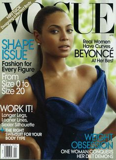 American Vogue April 2009 Cover (American Vogue).   Mario Testino - Photographer.   Tonne Goodman - Fashion Editor/Stylist.   Francesca Tolot - Makeup Artist.   Beyoncé Knowles - Entertainer.