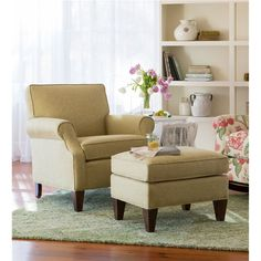 USA-Made Bedford Collection Upholstered Club Chair | Chairs & Rockers