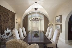 Designed by Dee Marksberry, Gage-Martin Interiors Tampa Bay Luxury Interior Design, Interior Decorating, Dining Table In Kitchen, Dining Room, Tudor Style, Romantic Homes, Home Renovation, Houzz, Tuscan Homes