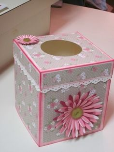 Tissue box cover for Stamp Camp by taximompjg - Cards and Paper Crafts at Splitcoaststampers
