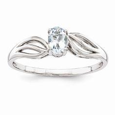 Sterling Silver Aquamarine Ring | JD Jewelers | Midland  and Gladwin, MI | jdjwelersllc.com