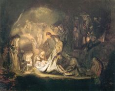 The Entombment - Rembrandt - WikiPaintings.org