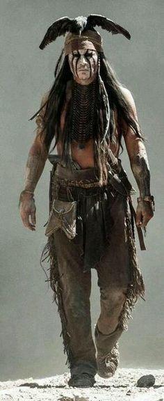 Johnny Depp as Tonto in the Long Ranger