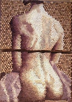 Genius In A Bottle: Amazing Wine Cork Mosaics ... see more at InventorSpot.com