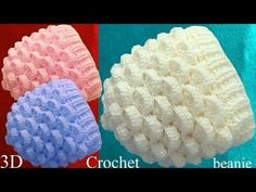 Gorro con hojas en relieve crochet - YouTube