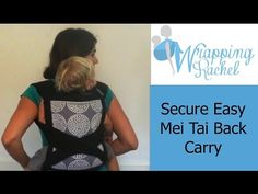 8f4c3d3da23 How to Do a Secure and Easy Meh dai Back Carry. Ring SlingBaby ...