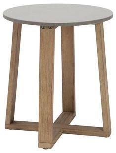 One Kings Lane Fuego Side Table - Natural Outdoor Furniture Inspiration, Walnut Veneer, Distressed Furniture, Patio Dining, Vintage Table, Coastal Living, Outdoor Spaces, Living Room Furniture, Hardwood