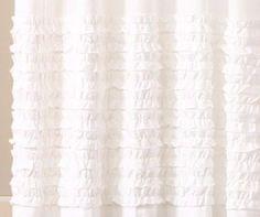 Madison Park KYLIE Rod Pocket Curtain Window Panel 50 x84  White NEW Flippable