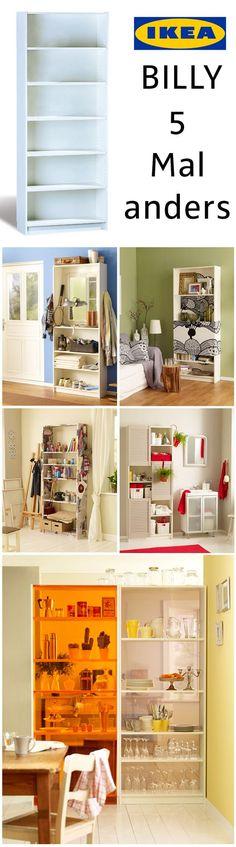 Das Ikea Billy Regal ist ein Klassiker – doch muss nicht immer nur ein Bücherregal sein. Wir zeigen, wie man Billy als Garderobe, Badezimmerschrank oder Trennwand umbauen kann. 5 verschiedene Variationen von Billy findest du bei uns!