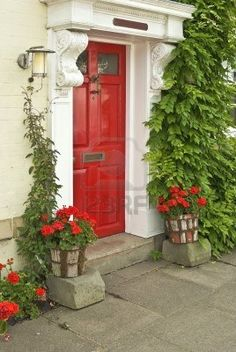 Red front door (Sherwin Williams Heartthrob) - the new color of ...