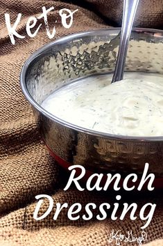 Personalized Graduation Gifts - Ideas To Pick Low Cost Graduation Offers Homemade Keto Ranch Dressing Has Some Of My Favorite Qualities - It's Easy To Make, Inexpensive, Tasty, And Has Great Macros For Keto. Keto Friendly Desserts, Low Carb Desserts, Low Carb Recipes, Diet Desserts, Entree Recipes, Diabetic Recipes, Cooking Recipes, Healthy Recipes, Keto Sauces
