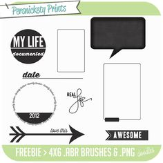 Great digital stamps from Persnickety Prints, perfect for #projectlife or silhouette and totally free!