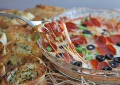 Hot pepperoni pizza dip recipe