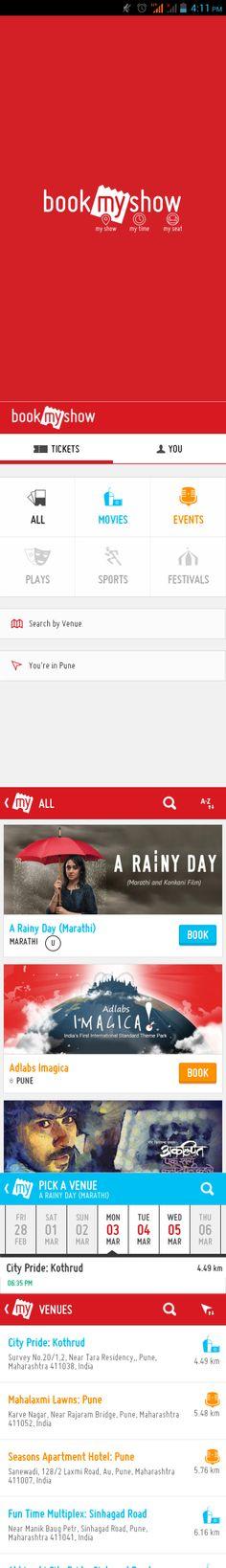 #android #UI #UX #design #flat #app #bookmyshow