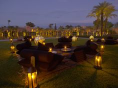 The #glowing central bassin #lounge at #Amanjena. #Morocco #Marrakech #travel #evening #lights #F1S