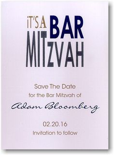 It's A Bar Mitzvah! Save The Date Magnet in Pewter