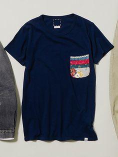 visvim Pizi Embroidery Pocket Tee S/S