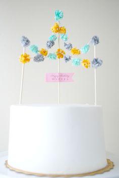 Festival Cake Topper by PotterandButler on Etsy