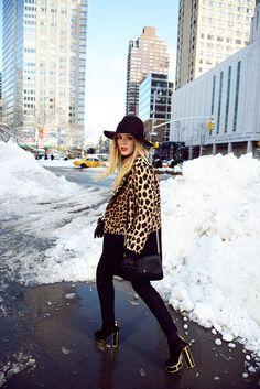 That Zara coat is a statement maker.