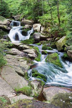 Der obere Bode-Wasserfall bei Braunlage