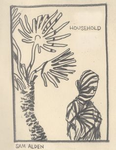 Household a creepy and austere penciled comic by Sam Alden about a brother and sister rooming together in New Orleans.