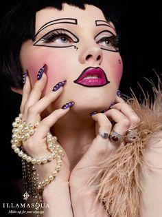 High Fashion Makeup | Illamasqua Theatre of Nameless Makeup Collection