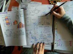 Construyendo conceptos. Bullet Journal, Renaissance, Concept, Finals, Sketch