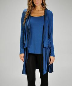 Take a look at this Teal Uneven Hem Layered Top by miilla  on #zulily today!