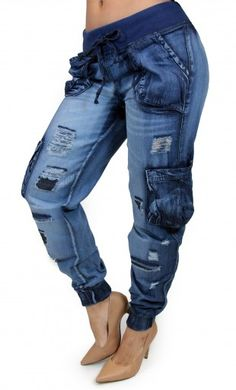 Destroyed Jogger Pant Maripily Skinny Jean  #MaripilyJeans #Joggerpants