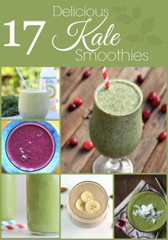 17 Delicious Kale Smoothies. I also love using spinach in smoothies! =) so healthy and you can't even taste the spinach!
