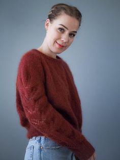 GARNTOPIAGENSEREN MOHAIREDITION - Guttenogstrikkemor - Garntopia Knit Crochet, Men Sweater, Turtle Neck, Pullover, Knitting, Sweaters, Collection, Style, Pdf