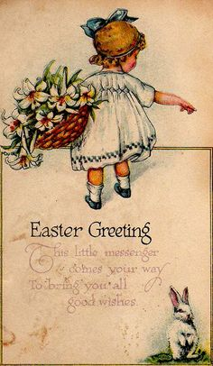 I love vintage cards.  Doesn't this little dress look like it's smocked?