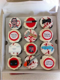 American Psycho cupcakes. Murderously delicious?