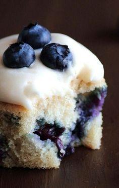 .Blueberry Cream Cheese Cupcakes~