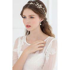 Dame/Blomsterpige Perle/Rhinestone/Krystall Headpiece Bryllup/Spesiell Leilighet Diademer/Pannebånd Bryllup/Spesiell Leilighet 2016 – kr.666