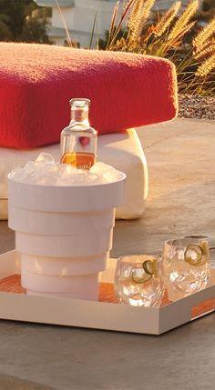 Frank Lloyd Wright's landmark design for The Guggenheim inspired the Solomon Ice Bucket.   Porta Forma